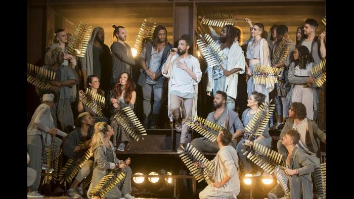 "The cast of ""Jesus Christ Superstar."" (Photo credit: Todd Rosenberg)"