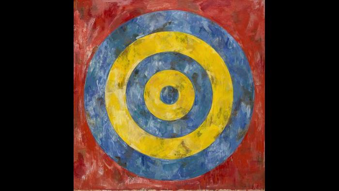 Jasper Johns. Target, 1961. (Courtesy of the Art Institute of Chicago, Gift of Edlis/Neeson Collection)