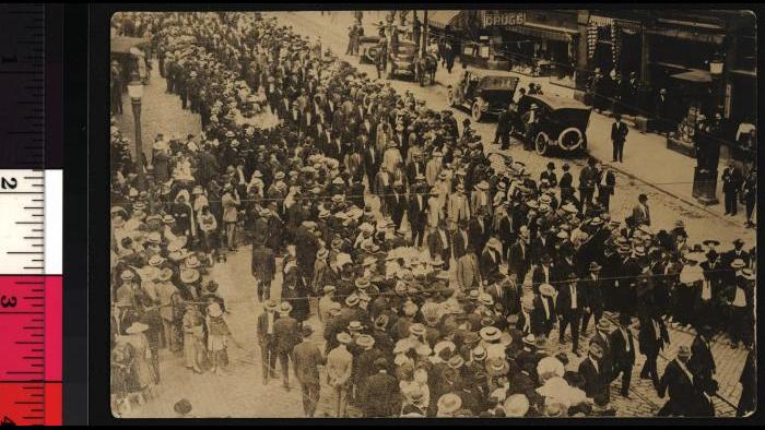 Joe Hill funeral (Joseph A. Labadie Collection, University of Michigan Library)