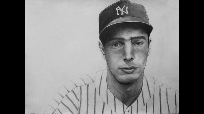 """Joe DiMaggio: """"He is known for the impossible feat of having a hit in 52 games in a row. He is one of the top five players that ever played the game."""""""