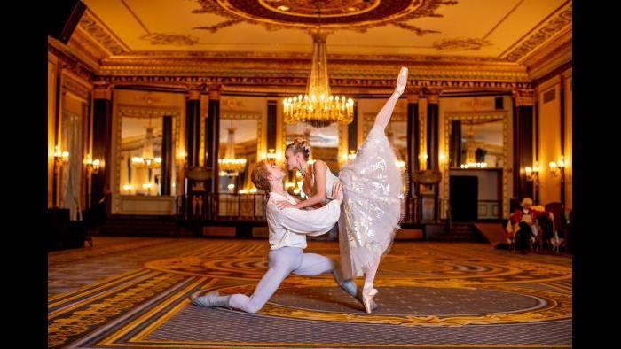 Joffrey Ballet artists Stefan Goncalvez and Brooke Linford. (Photo by Cheryl Mann)