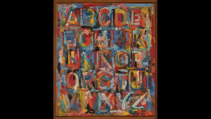 Jasper Johns. Alphabet, 1959. (Courtesy of the Art Institute of Chicago, Gift of Edlis/Neeson Collection)