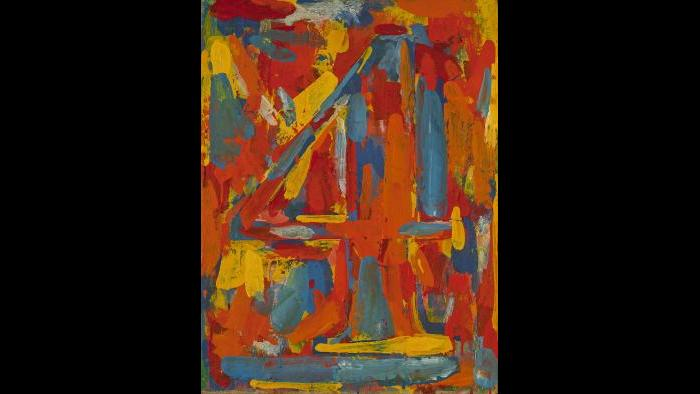 Jasper Johns. Figure 4, 1959. (Courtesy of the Art Institute of Chicago, Gift of Edlis/Neeson Collection)