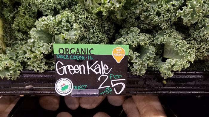 Organic kale from Deer Creek, Ill.: 2 for $5 in Edgewater