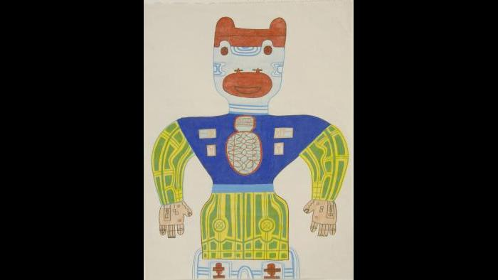 Karl Wirsum, Untitled, 1985. (Courtesy of the Illinois State Museum Fine Art Collection)