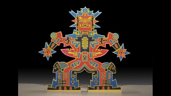 Karl Wirsum, Zing Zing Zip Zip, 2003. (Courtesy of the Illinois State Museum Fine Art Collection)