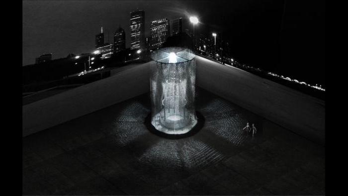 Kiosk design finalist 'Behind the Curtain' by Kelley, Palider, Paros.