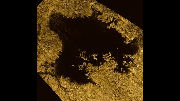Lakes on Titan (Courtesy of NASA)