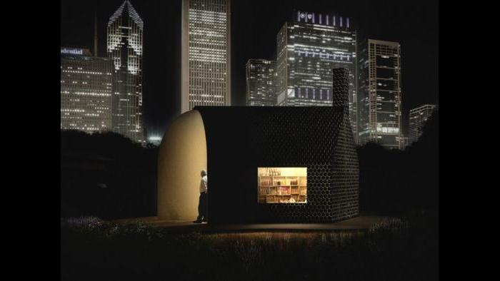 Kiosk design finalist by Lekker Architects.