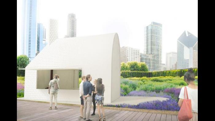 Kiosk design finalist by Lekker Architects.