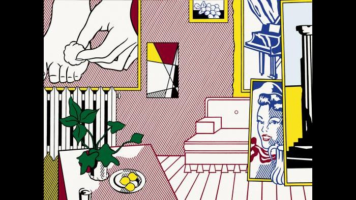 "Roy Lichtenstein. Artist's Studio ""Foot Medication,"" 1974. (Courtesy of the Art Institute of Chicago, Gift of Edlis/Neeson Collection)"