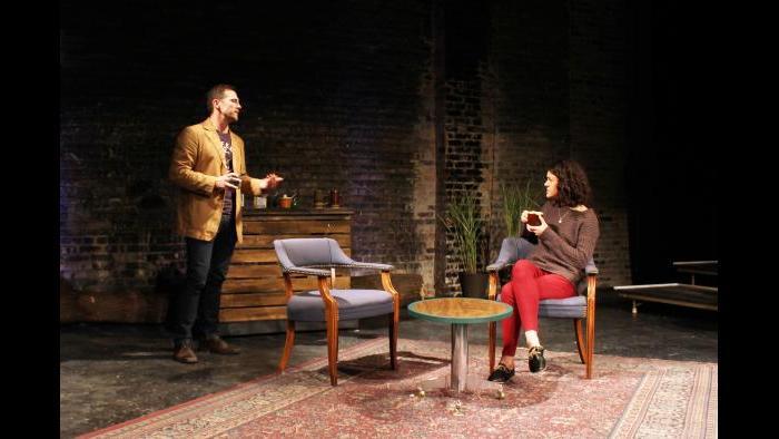 "Josh Odor and Adelina Feldman-Schultz perform in ""The Lies We Tell."" (Credit: Mali Anderson)"