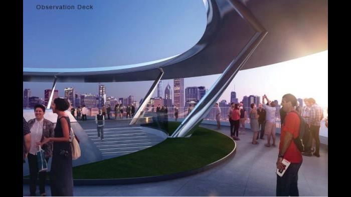 Rendering of the Lucas Museum's observation deck. (Courtesy of Lucas Museum of Narrative Art)