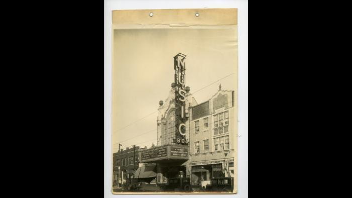 The Music Box Theatre, 1929. (Courtesy of Music Box Theatre)