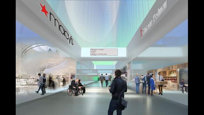 After: Macy's corridor, pedway level. (Courtesy of the Environmental Law & Policy Center)