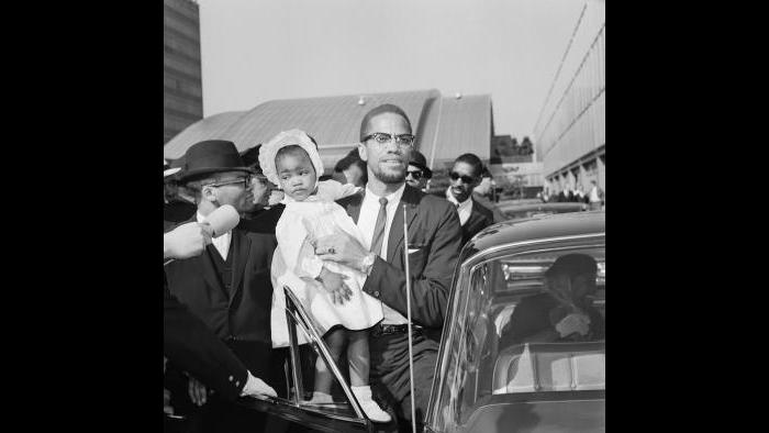Malcolm X and Ilyasah Shabazz