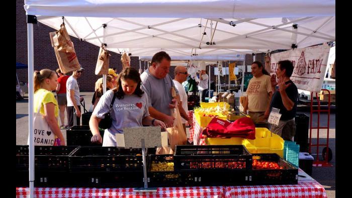 Vendor at Green City Market. (Photo by Cindy Kurman / Kurman Communications)