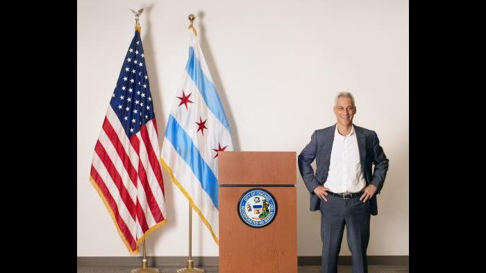 """Chicago Lights,"" Chicago Mayor Rahm Emanuel (Credit: Abigail Zoe Martin)"