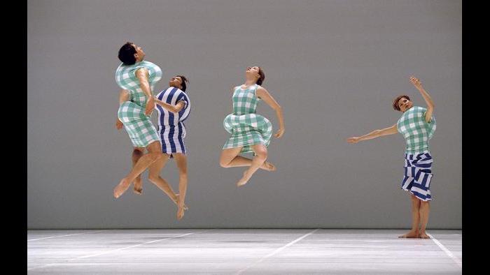 "Dancers perform ""Scenario"" at l'Opera National de Paris-Palais Garnier, January 1998. (Jacques Moatti)"