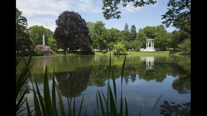 Mt. Auburn Cemetery in Cambridge, Mass. is also a popular park.