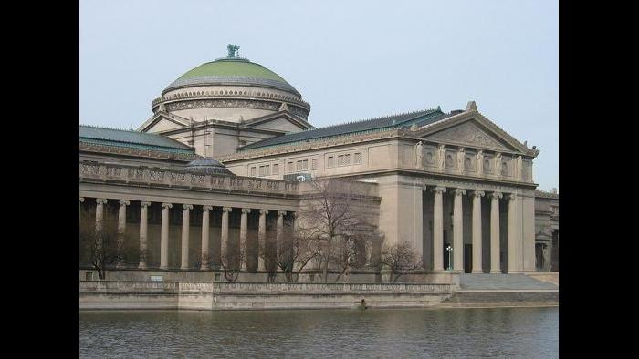 Chicago's Museum of Science and Industry, formerly called the Palace of Fine Arts from the 1893 World's Columbian Exhibition.