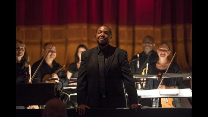 Music supervisor and conductor Kedrick Armstrong. (Credit: Todd Rosenberg)