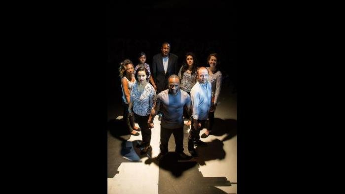 Cast of Collaboraction's 'Crime Scene: Breathe Life.' (Photo by Joel Maisonet)