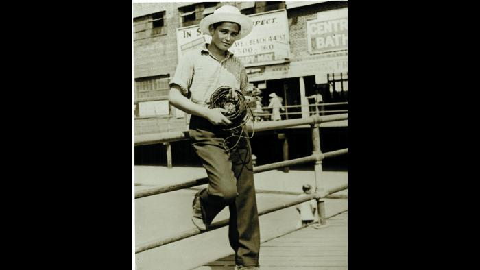 Young Norman at Coney Island (Courtesy of Norman Lear)