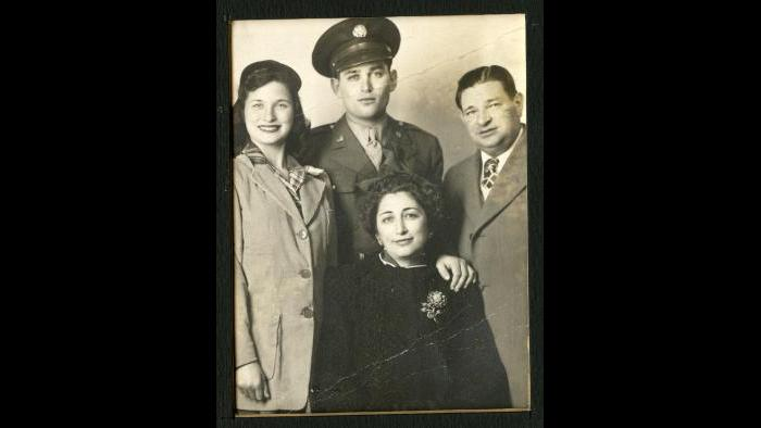 Norman Lear with parents and first wife Charlotte (Courtesy of Norman Lear)