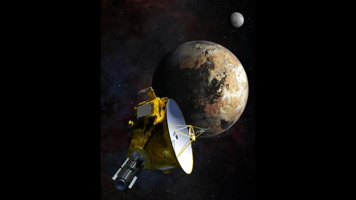 Artist's concept of the New Horizons spacecraft. (Courtesy Johns Hopkins University Applied Physics Laboratory/Southwest Research Institute)