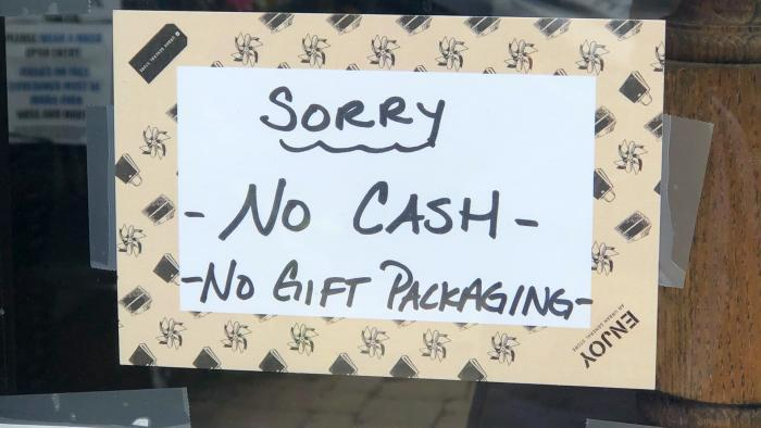 The U.S. Mint is urging people to spend their coins, but many businesses aren't accepting cash payments due to the pandemic. (Patty Wetli / WTTW News)