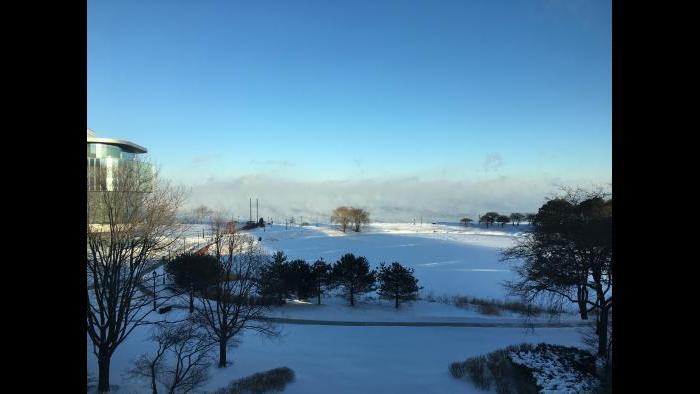 Cold weather at Northwestern University (Submitted by Eric Chin)