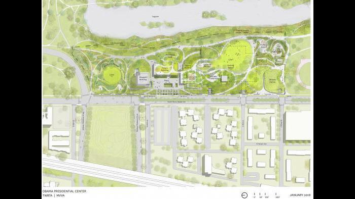 Obama Presidential Center site plan (Courtesy Obama Foundation)