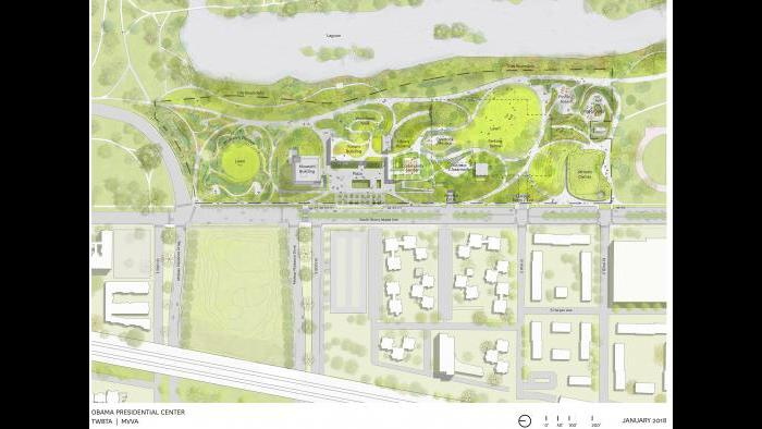 Obama Presidential Center site plan (Courtesy Obama Foundation)