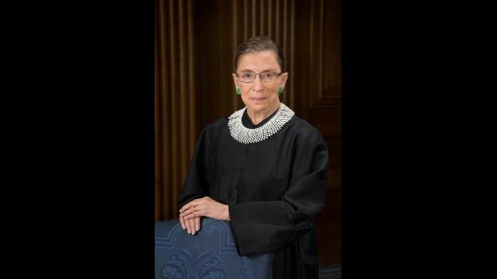 Official portrait of United States Supreme Court Justice Ruth Joan Bader Ginsburg. (Courtesy of WDC photos / Alamy Stock Photo)