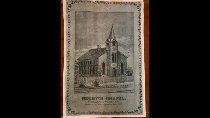 The original Reedy Chapel AME Church in Galveston, Texas.