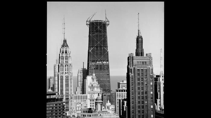 Nickel photographed the John Hancock Center. (Courtesy the Richard Nickel Archive/ Ryerson and Burnham Archives/ The Art Institute of Chicago)