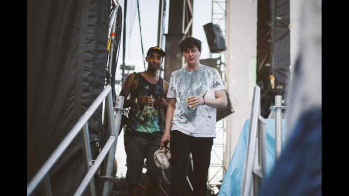 Panda Bear and Atiba Jefferson at Pitchfork in 2015. (Matt Lief Anderson / Pitchfork)