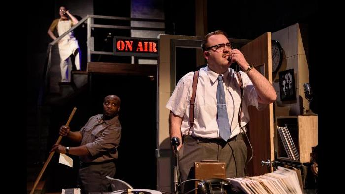 """James Earl Jones II and Jacob Voigt  in """"Memphis."""" (Photo by Michael Courier)"""