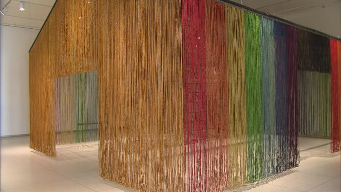 "Inside the exhibit ""The Allure of Matter."" (WTTW News)"