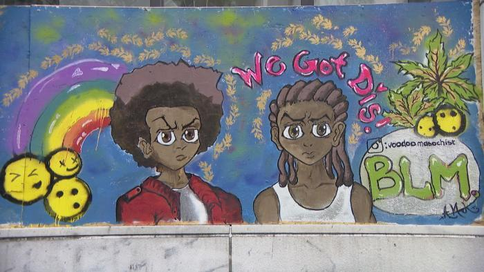 A Paint the City mural in Chicago. (WTTW News)