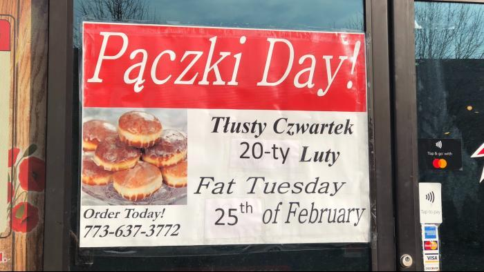 At Kolatek's, Paczki Day comes twice: Once on Fat Thursday for Poles and again on Fat Tuesday for everyone else. (Patty Wetli / WTTW)