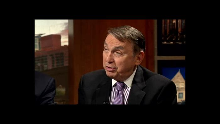 """Paul Green appears on """"Chicago Tonight"""" to discuss political patronage in Illinois on July 17, 2013."""