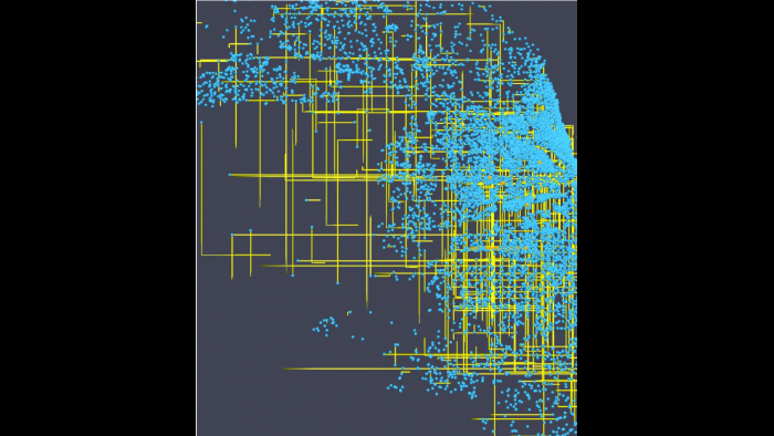 Agent mobility patterns, as generated using the Argonne CityCOVID model. (Image by Argonne National Laboratory)
