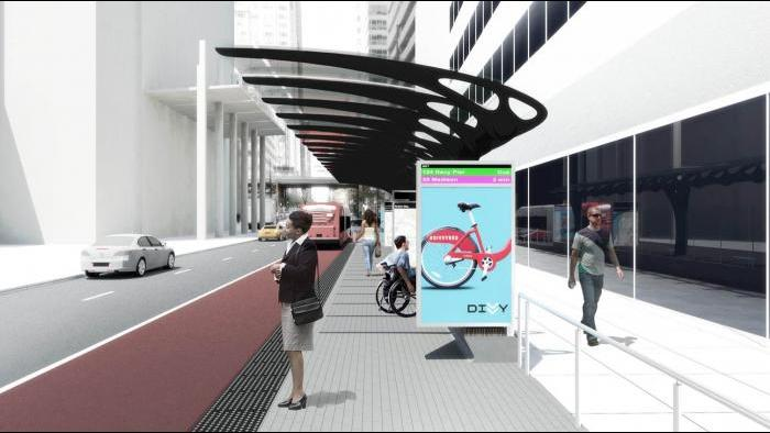 Loop Link rendering (Courtesy Chicago Department of Transportation)