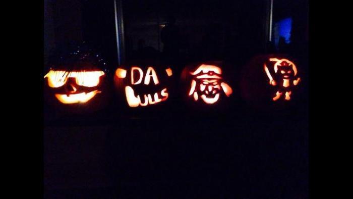 Thometz family pumpkin carving creations (Kristen Thometz)