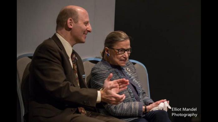 Ruth Bader Ginsburg with her son, Jim Ginsburg. (Courtesy of Jim Ginsburg)