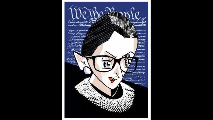 Ruth Bader Ginsburg by Tom Bachtell (Courtesy of the artist)