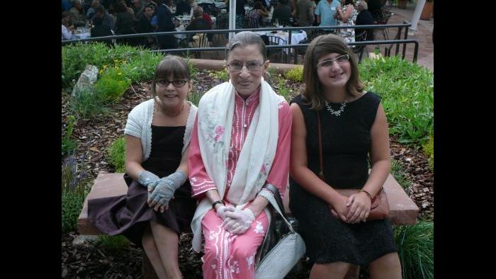 Ruth Bader Ginsburg with her granddaughters. (Courtesy of Jim Ginsburg)
