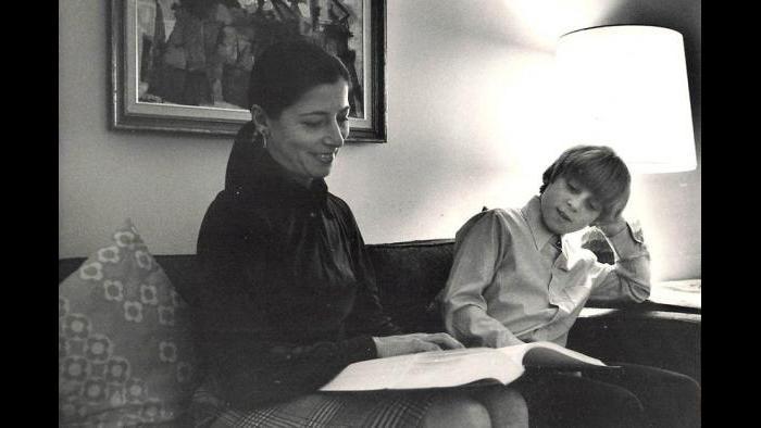 Ruth Bader Ginsburg and her son, Jim Ginsburg. (Courtesy of Jim Ginsburg)